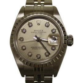 Rolex Date 79240 Stainless Steel & Diamond 26mm Watch
