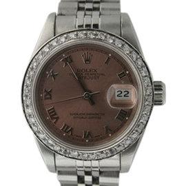 Rolex Datejust 18K White Gold & Stainless Steel Diamond 26mm Watch