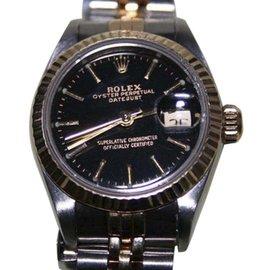 Rolex Datejust 18K Yellow Gold & Stainless Steel Womens Watch