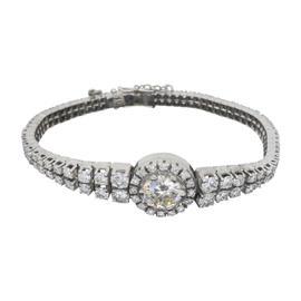 18K White Gold Omega 8.67CTW Diamond Bracelet