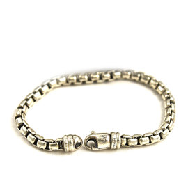David Yurman Sterling Silver Box Chain Bracelet