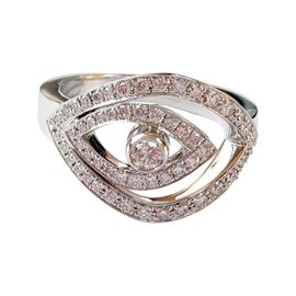 Chopard 18K White Gold & Diamond Eye Ring