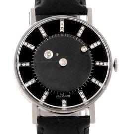 Lecoultre Vacheron Constantin Galaxy Mystery Dial 14K White Gold Diamond Watch