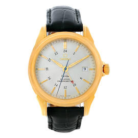 Omega 4633.30.31 DeVille Co-Axial GMT 18K Yellow Gold Watch