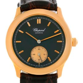 Chopard Classique 18K Rose Gold Black Dial 16/1168 Watch