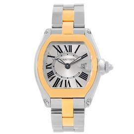 Cartier Roadster W62026Y4 Yellow Gold Womens Steel Watch