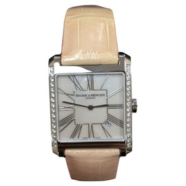 Baume & Mercier Stainless Steel and Diamond Quartz Watch