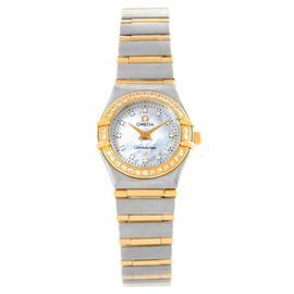 Omega Constellation 1267.75.00 My Choice Mini Steel Gold Diamond Watch