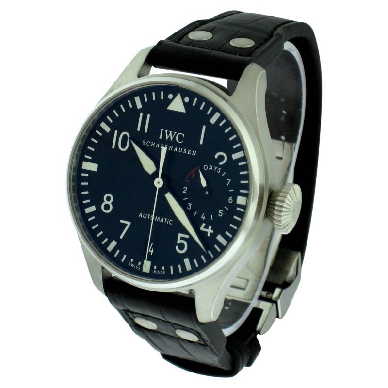 "Image of ""IWC Iw500901 Big Pilot Stainless Steel Watch"""