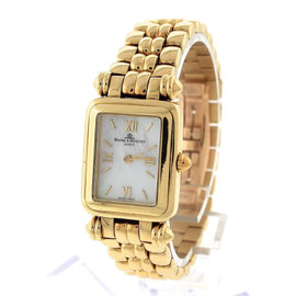 Baume & Mercier 18K Yellow Gold Mother of Pearl Roman Rare Watch