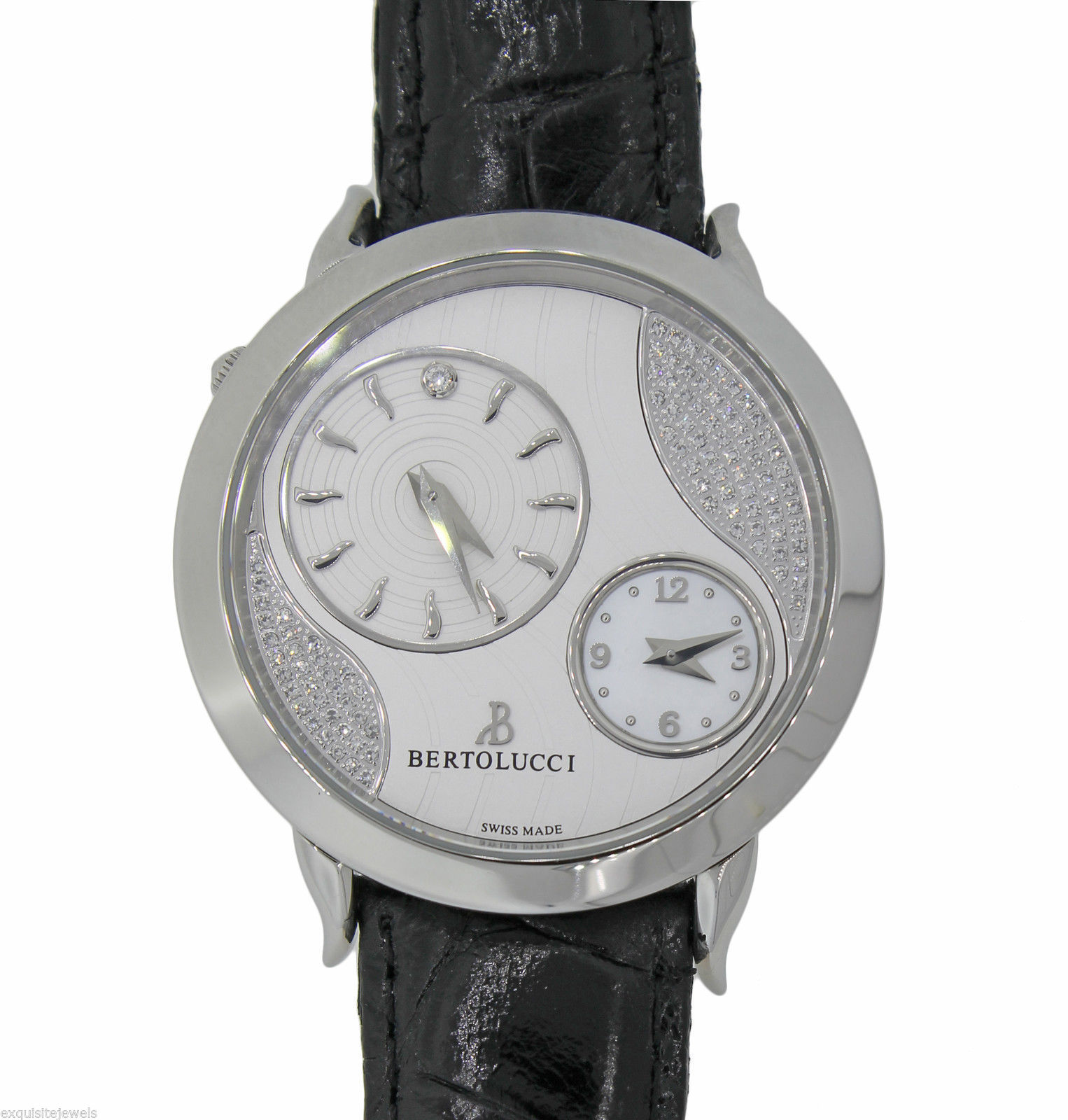 "Image of ""Bertolucci Montre Quartz Volta Stainless Steel Silver Diamond Dial"""