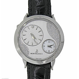 Bertolucci Montre Quartz Volta Stainless Steel Silver Diamond Dial Watch