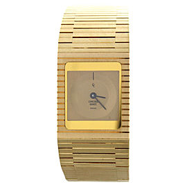 Concord 50.76.655 18k Yellow Gold 71.3g Vintage Retro 20mm Quartz Watch