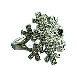 Salvini 18 kt White Gold Snowflake with Diamonds Ring