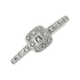 Charriol Solid 18K 750 White Gold Diamond Ring