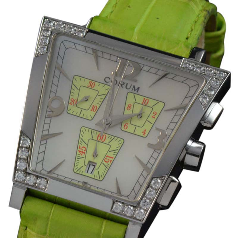 """Image of """"Corum 196.405.47 Trapeze Diamond Chronograph Mother of Pearl Dial"""""""