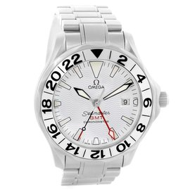 Omega Seamaster 2538.20.00 GMT Great White Mens Watch