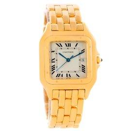 Cartier Panthere W25014B9 Jumbo 18K Yellow Gold Date Watch
