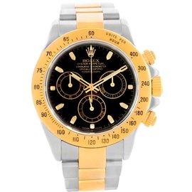 Rolex 116523 Cosmograph Daytona Stainless Steel 18K Yellow Gold Watch
