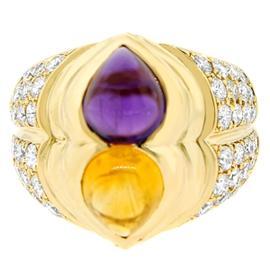 Chopard 18K Yellow Gold Diamond And Sapphire Ring