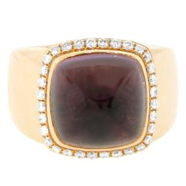 Fred Of Paris 18K Rose Gold Amethyst And Diamond Ring