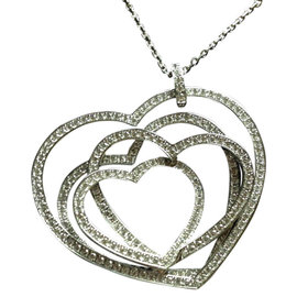 Chopard White Gold & Diamond Heart Pendant