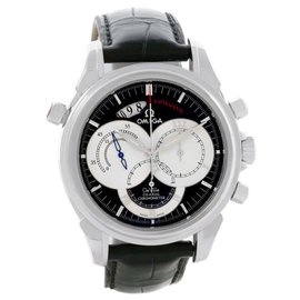 Omega DeVille 4847.50.31 Co-Axial Rattrapante Black Strap Watch