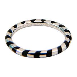 Tiffany & Co. Paloma Picasso Venezia Palina Black Enamel Ring