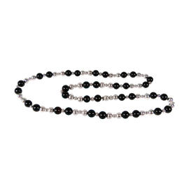 Tiffany and Co. Sterling Silver & Onyx Bead Necklace