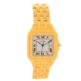 Cartier Panthere XL W25014B9 18K Yellow Gold Date Quartz Watch