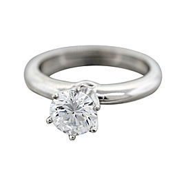 Tiffany & Co. Platinum and Diamond Solitaire Engagement Ring Size 5
