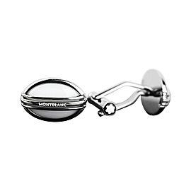 Montblanc Meisterstuck Stainless Steel White Agate Cufflinks