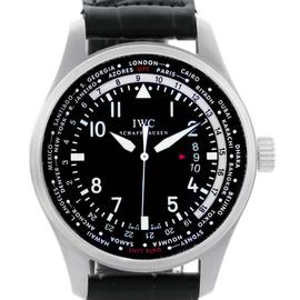 IWC IWC3262-01 Pilot Worldtimer Black Dial Automatic Mens Watch