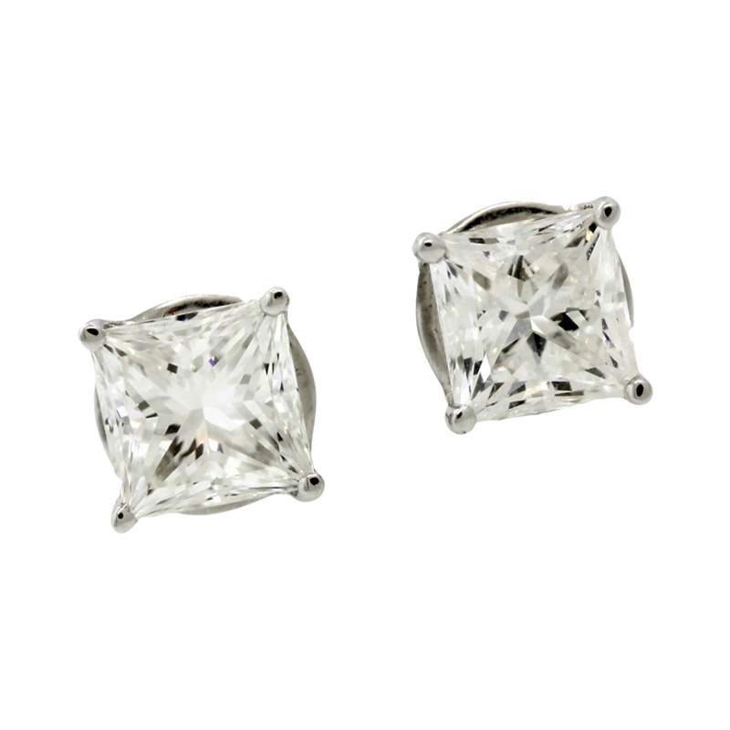 "Image of ""Jacob & Co. 18K White Gold & Diamond Stud Earrings"""