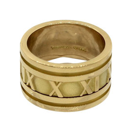 Tiffany & Co. 18K 750 Yellow Gold Atlas Roman Numeral Band Ring