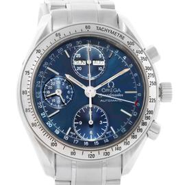 Omega 3521.80.00 Speedmaster Automatic Day Date Blue Dial Mens Watch