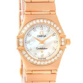 Omega 1167.75.00 Constellation 95 18K Rose Gold Diamond Watch