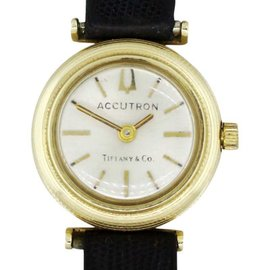 Tiffany & Co. Accutron B722 14K Yellow Gold 24mm Vintage Watch