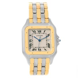 Cartier Panthere Jumbo Steel 18K Yellow Gold Three Row Unisex Watch