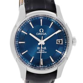 Omega DeVille 431.33.41.21.03.001 Hour Vision Blue Dial Watch