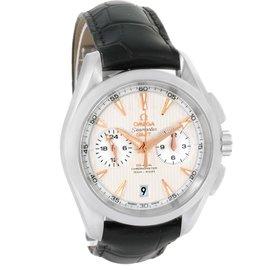 Omega Seamaster Aqua Terra GMT Watch 231.13.43.52.02.001 Stainless Steel Mens Watch