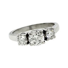 14K White Gold & 0.90ct Diamond Engagement Ring