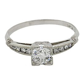 Platinum 0.81ctw Diamond Engagement Ring