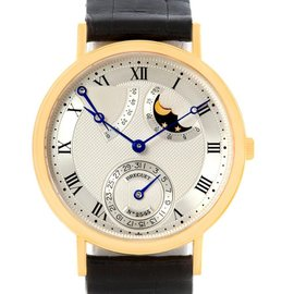Breguet Classique 3137BA/11/986 Power Reserve Moonphase 18K Yellow Gold Mens Watch
