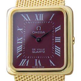 Omega Deville Accuset Luxury Swiss Made Gold Plated Dress 20mm Vintage Watch