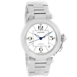 Cartier Pasha C Medium Stainless Steel Bracelet Date W31074M7 35mm Watch