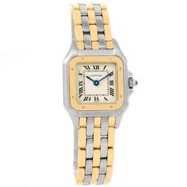 Cartier Panthere Stainless Steel & 18K Yellow Gold 3 Row W25029B6 22mm Watch
