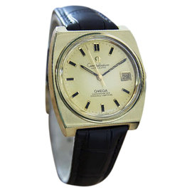 Omega Constellation Gold Cap Gold Bezel Automatic Mens 1970s Watch