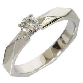 Boucheron Platinum 0.22 Ct Diamond Ring Size 4.75