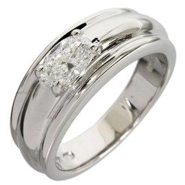 Boucheron 18K White Gold 0.55ct Oval Diamond Ring
